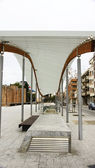 Ornamental structure in a square in Terrassa — Stock Photo