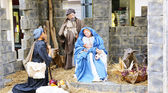 Nativity scene in Terrassa — Stock Photo