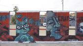 Graffiteadas walls in streets — Stock Photo
