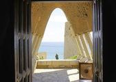 Chapel in the architectural complex of Antonio Gaud El Garraf, Barcelona — Stock Photo
