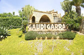 Overview Gardens Bodegas Güell by Antoni Gaudí, El Garraf, Barcelona — Stock Photo
