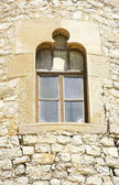 Window in the tower of the complex of warehouses in El Garraf Güell, Barcelona — Stock Photo