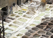 Dyes for dyeing fabrics in Fez — Foto Stock