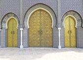 Decorative door in Morocco — Stock Photo