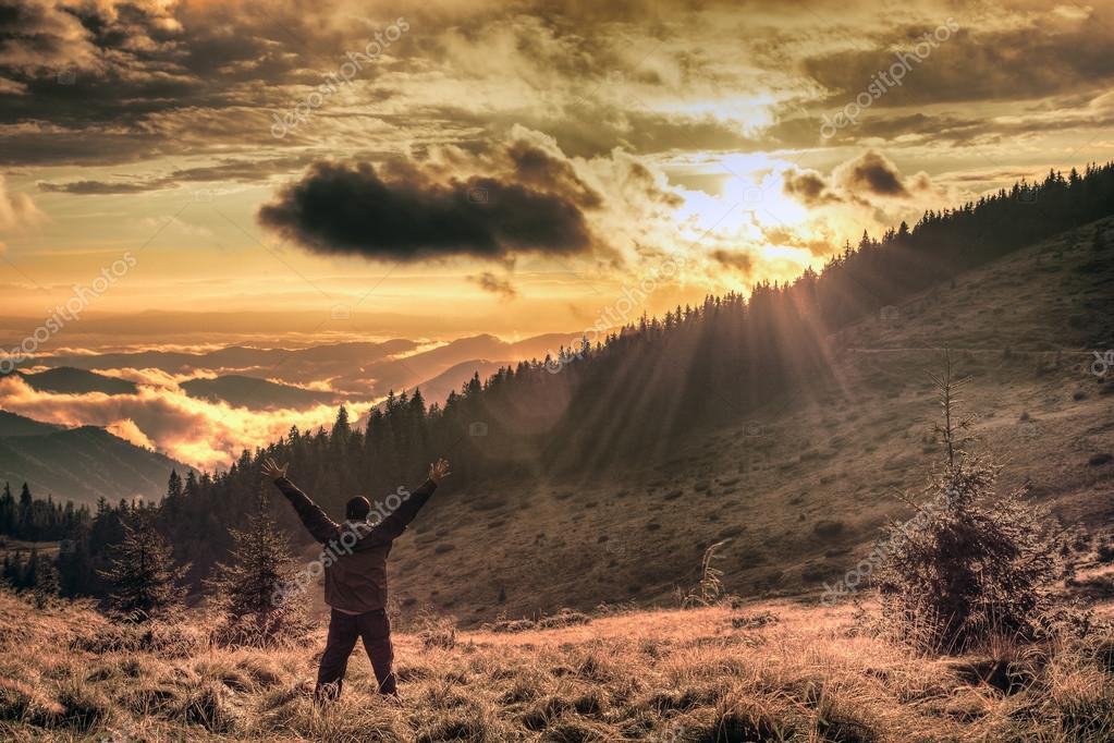 Фотообои Joy in the misty mountains of Ukraine