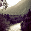 Rapid river in autumn mountains of the Caucasus — Stock Photo