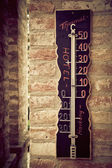 Thermometer in one of the thermal hotels of Hungary — Stock Photo