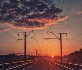 Mystical railroad — Fotografia Stock