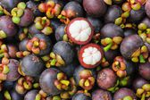 Fresh organic mangosteen Thai fruit. — Stock Photo