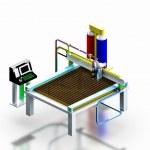 Model industrial plasma cutter machine, 3D render. — Stock Photo