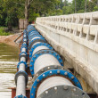 A big water supply main pipeline. — Stock Photo
