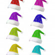 Santa cap collection — Stock Photo #17465523