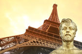 Eiffel Tower, Paris, — Stock Photo
