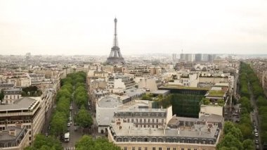 View on Eiffel Tower, Paris, France — Stock Video