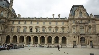 The Louvre Museum circa in Paris, France — ストックビデオ