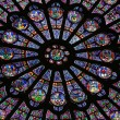 North Rose window — Stock Photo
