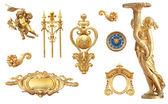 Złoty detal do Pałacu Wersalskiego — Zdjęcie stockowe
