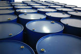 Blue barrels — Stock Photo