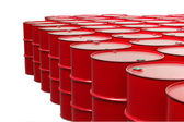 Red barrels — Stock Photo