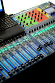 Mixing panel — Stock Photo