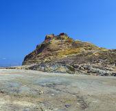 Sulfurous resort in Vulcano, Lipai, Sicily, Italy — Stock Photo