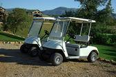 Carros de golf — Foto de Stock