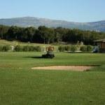 Lown-mower of golf-club — Stock Photo