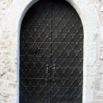 Medieval massive door — Stock Photo