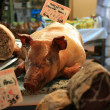 Piglet on a market — Stock Photo