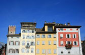 Multicolored houses in Trento — Stock Photo
