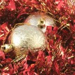 Red-golden Christmass-tree decoration — Stock Photo