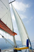 Sailing on Garda lake — Stock Photo