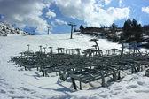 Ski season finished — Stock Photo