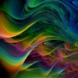 Fractal multicolored waves — Stock Photo