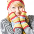 Stock Photo: Beautiful winter girl