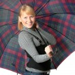 Happy girl with umbrella — Stock Photo #35659201