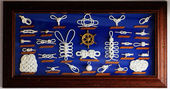 A decorative collection of marine knots — Stock Photo