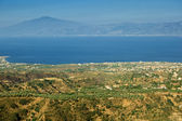 Etna visible from Aspromonte — Stock Photo