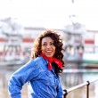 Stock Photo: Harbor woman