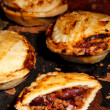 Stock Photo: Mini chilli beef pies