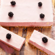 Frozen blackberry cheesecake — Stock Photo #30637495