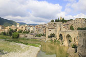 The ancient town of Besalu. — Stock Photo