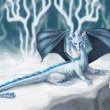 White Dragon — Stock Photo