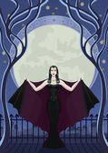 Vampire in the night — Stock Vector