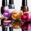 Bottles with nail polish — Stock Photo