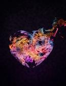 Flaming heart — Stock Photo