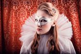 Woman in mask — Stock Photo