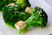 Broccoli and tofu — Stock Photo