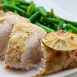 Baked chicken breast — Stock Photo