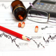 Chart and glasses — Stock Photo #13832510